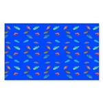 Scatter Wrasses pattern on blue Sticker