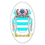 Poppel Sticker (Oval 50 pk)