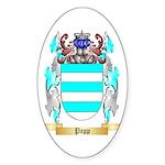 Popp Sticker (Oval 50 pk)