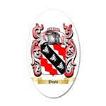 Pople 35x21 Oval Wall Decal