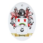 Ponting Oval Ornament