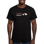 I Love Chickens Men's Fitted T-Shirt (dark)