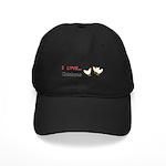 I Love Chickens Black Cap