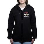I Love Chickens Women's Zip Hoodie