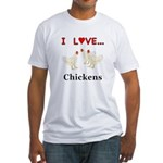 I Love Chickens Fitted T-Shirt