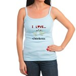 I Love Chickens Jr. Spaghetti Tank