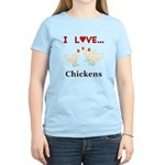 I Love Chickens Women's Light T-Shirt