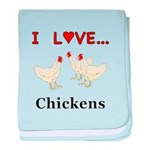 I Love Chickens baby blanket