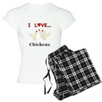 I Love Chickens Women's Light Pajamas