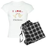 I Love Chickens Women's Light Pajamas