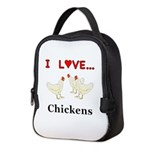 I Love Chickens Neoprene Lunch Bag