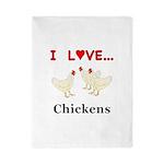 I Love Chickens Twin Duvet