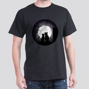 Two cats one moon T-Shirt