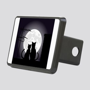 Two cats one moon Rectangular Hitch Cover