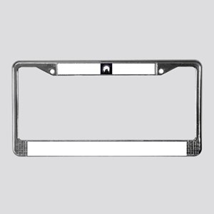 Two cats one moon License Plate Frame
