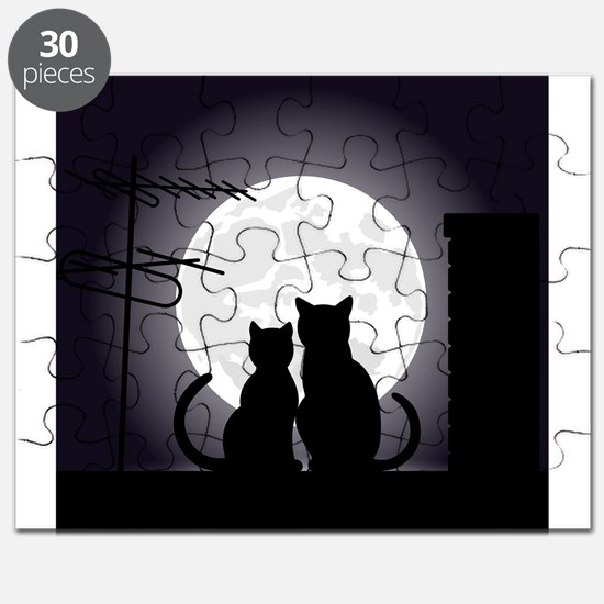 Two cats one moon Puzzle