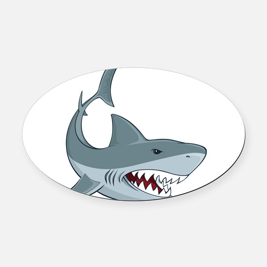 Shark week Oval Car Magnet