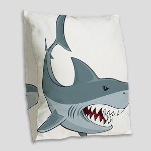 Shark week Burlap Throw Pillow