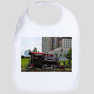 Old Alaska Railroad steam locomotive engi Baby Bib