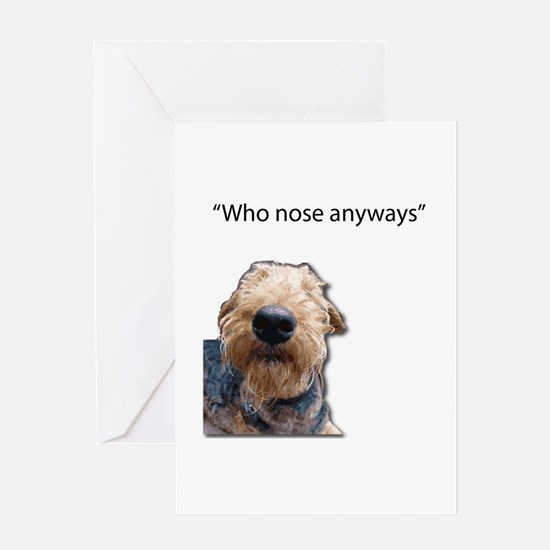 Airedale Terrier Friends Greeting Cards