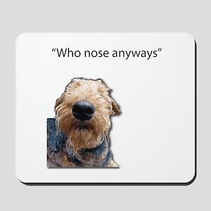 Airedale Terrier Friends Mousepad