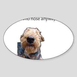 Airedale Terrier Friends Sticker