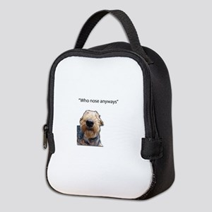 Airedale Terrier Friends Neoprene Lunch Bag