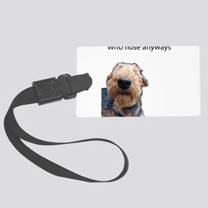 Airedale Terrier Friends Luggage Tag