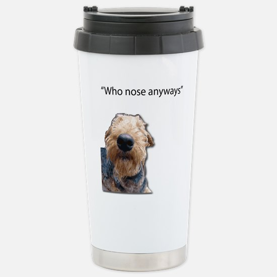 Airedale Terrier Friends Travel Mug