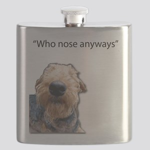 Airedale Terrier Friends Flask