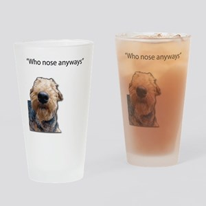 Airedale Terrier Friends Drinking Glass