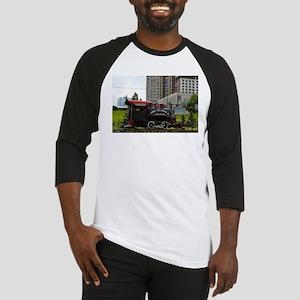 Old Alaska Railroad steam locomoti Baseball Jersey