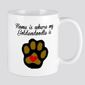 Home Is Where My Goldendoodle Is Mugs