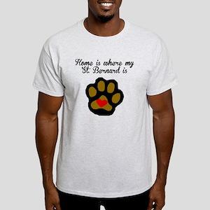 Home Is Where My St. Bernard Is T-Shirt