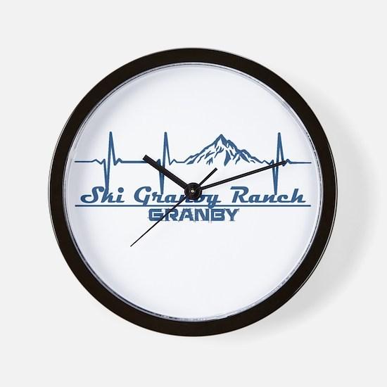 Ski Granby Ranch - Granby - Colorado Wall Clock