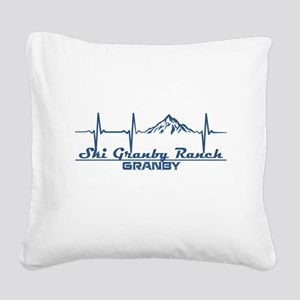 Ski Granby Ranch - Granby - Square Canvas Pillow