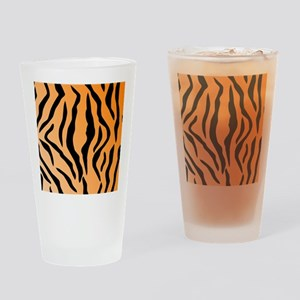 Faux Tiger Print Drinking Glass