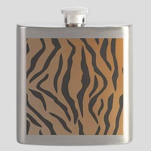 Faux Tiger Print Flask