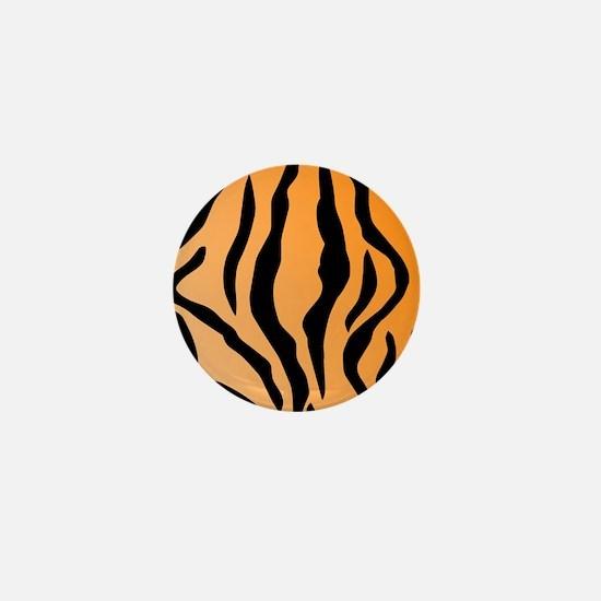 Faux Tiger Print Mini Button