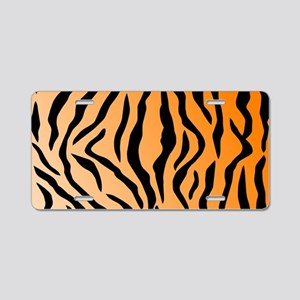 Faux Tiger Print Aluminum License Plate