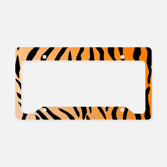 Faux Tiger Print License Plate Holder