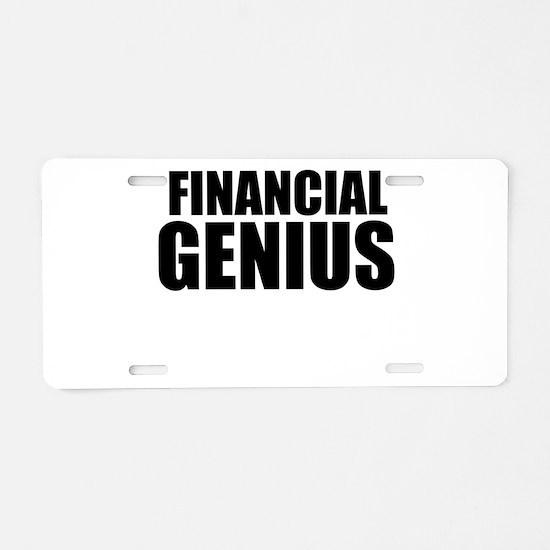 Financial Genius Aluminum License Plate