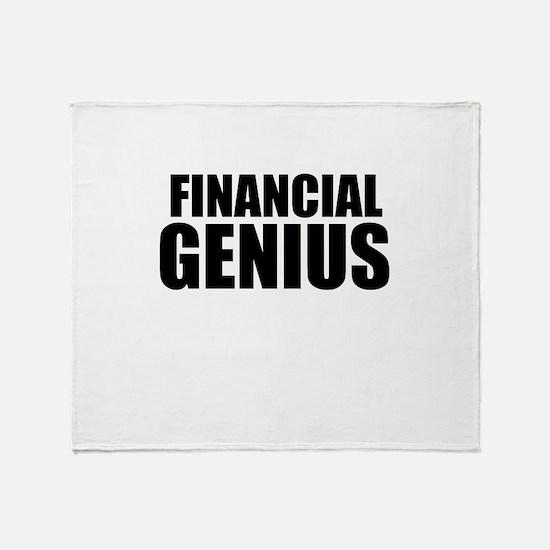 Financial Genius Throw Blanket