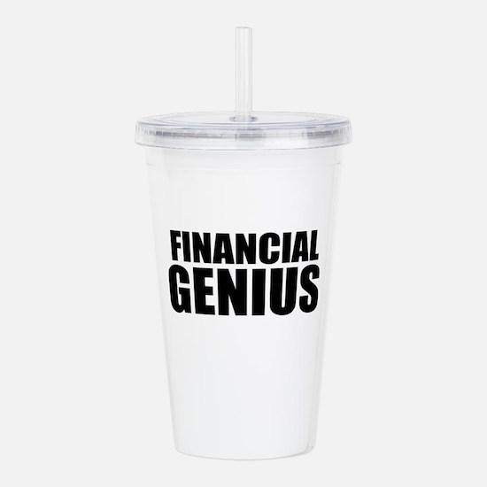 Financial Genius Acrylic Double-wall Tumbler