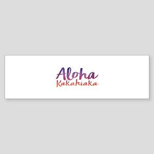Aloha Kakahiaka Bumper Sticker