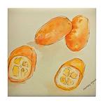 Kumquats Tile Coaster