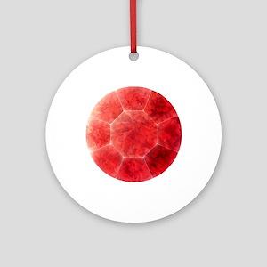 Ruby Round Ornament