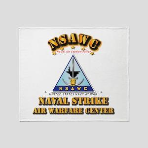 NSAWC - NAS Fallon Throw Blanket