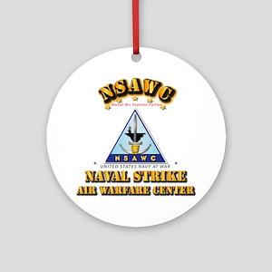 NSAWC - NAS Fallon Round Ornament