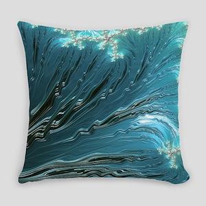 Big Wave Fine Fractal Art Everyday Pillow
